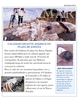 """Calamar Gigante"" Spanish Authentic Resource"