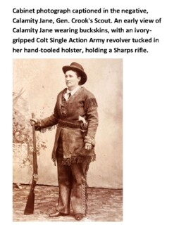 Calamity Jane Handout