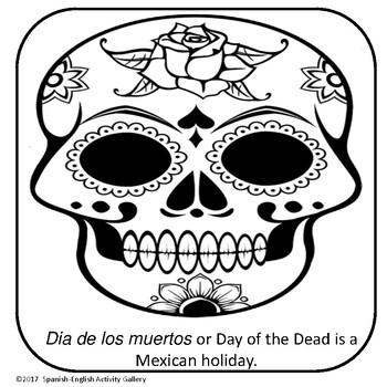 Calaveras Coloring Book/Dia De Los Muertos by Spanish-English ...