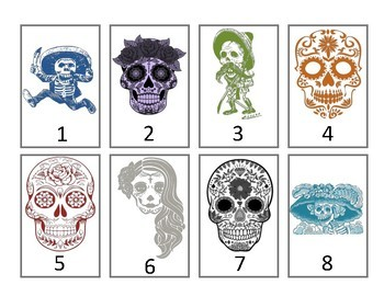 Calaveras Grouping Cards--Colored
