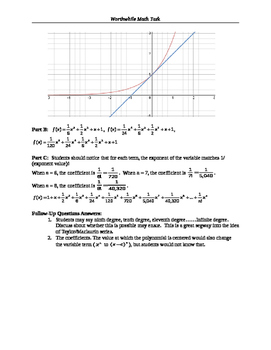 Calc BC - Investigative Approach to Maclaurin Polynomials