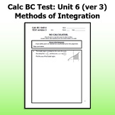 Calc BC Test ver3 - Unit 6 - Methods of Integration