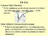 Calc Ch 3.1a Extrema on an Interval