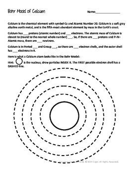 Calcium Bohr Model