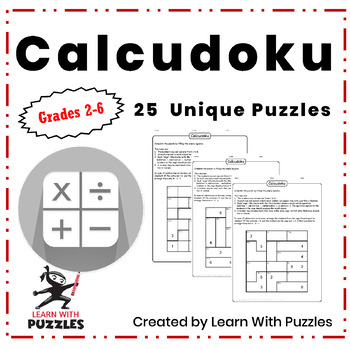 Calcudoku Puzzles - 25 Unique Calcudoku Puzzles Collection