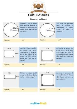 Calcul d'aires - Résous ces problèmes -6e