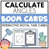 Calculate Angles Boom Cards Distance Learning