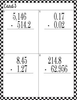 Calculate & Clean: Decimal Subtraction