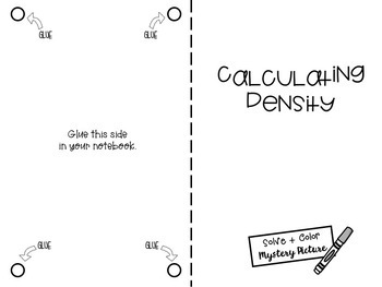 Calculate Density, Mass and Volume: Science Mystery Picture