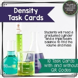 Calculate Density Task Cards with Graduated Cylinder and Triple Beam Balance