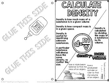 Calculate Density and Identify a Sample Science Notebook Page