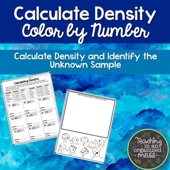 Calculate Density and Identify an Unknown Sample Color by Number Practice