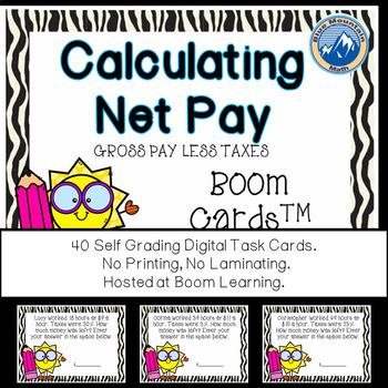 Calculate Net Pay Boom Cards--Digital Task Cards