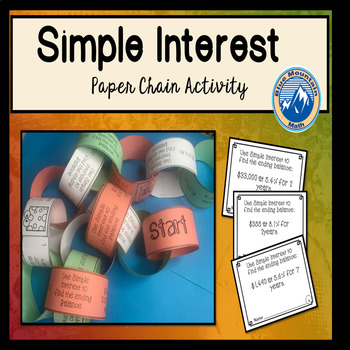 Calculate Simple Interest Paper Chain Activity