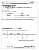 Calculate Speed and Velocity Activity Lab