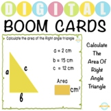 Calculate The Area Of Right Angle Triangle - Boom Cards™