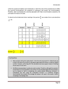 Calculate Those using Fractions (Preview: First 16 pages of the Teacher's Edn)