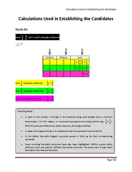 Calculate Those using Fractions (Teacher's Edition Pages 542 - 1150)