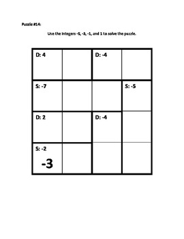 Calculate Those using Integers (Addition and Subtraction) Puzzle Book