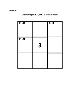 Calculate Those using Integers (Multiplication) Puzzle Book