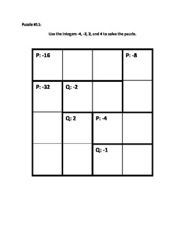 Calculate Those using Integers (Multiplication & Division) Puzzle Book