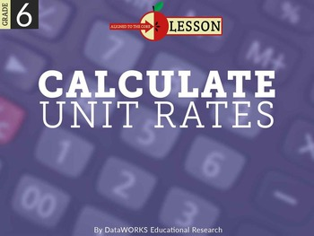 Calculate Unit Rates