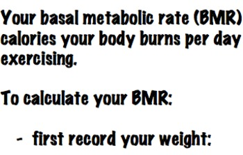 Calculate Your BMR - Fun Math & Health Related Activity