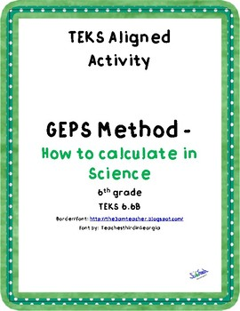 Calculate density with GEPS  (TEKS 6.6B)