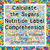 Calculate the Sugars Nutrition Label Comprehension   Power
