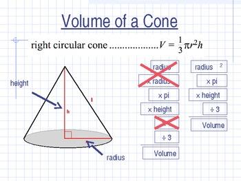 Calculate the Volume of a Cone