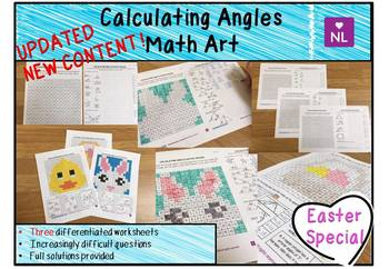 Calculating Angles Easter Special (Math Art)