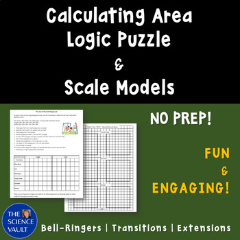 Calculating Area Logic Puzzle - Great for Enrichment, Sub Plans!