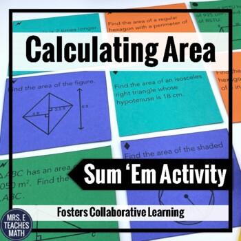 Area Sum 'Em Activity