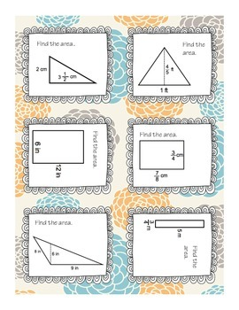 Calculating Area Task Cards