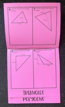 Calculating Area of 2-Dimensional Figures (Foldable)