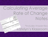 Calculating Average Rate of Change Foldable