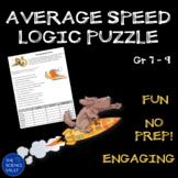 Calculating Average Speed Logic Puzzles
