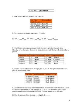 Calculating Chain (Series) Discounts