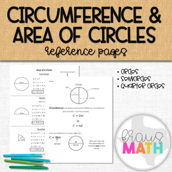 Calculating Circumference & Area of Circles, Semicircles and Quarter Circles