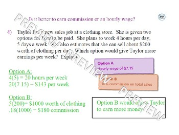 Calculating Commission