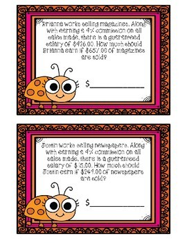 Calculating Commissions Boom Cards--Digital Task Cards