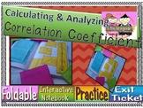 Calculating Correlation Coefficient Foldable, INB Activity