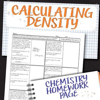 Calculating Density Teaching Resources Teachers Pay Teachers