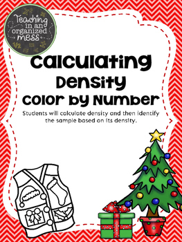 Calculating Density Christmas Math Color by Number