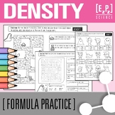 Calculating Density (D=m/v) Practice, Maze and Word Search