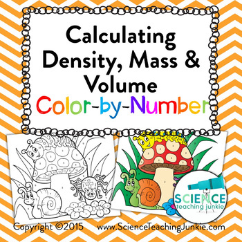 Calculating Density, Mass, & Volume Color-by-Number | TpT