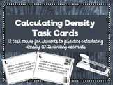 Calculating Density Task Cards with Dividing Decimals QR codes