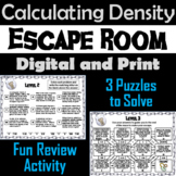 Calculating Density Word Problems Game: Science Escape Room Math