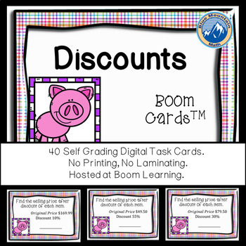 Calculating Discounts Boom Cards--Digital Task Cards