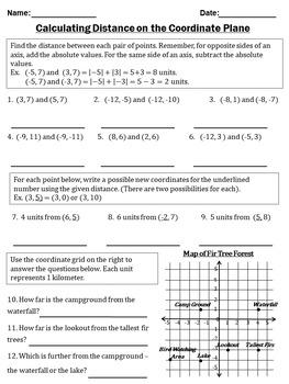 Calculating Distance on the Coordinate Plane